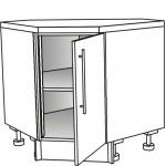 Skříňka spodní rohová šikmá 45° 90 cm