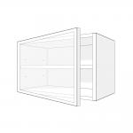 Skříňka horní  s prosklenými dvířky 60 cm