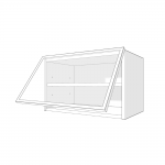 Skříňka horní s výklopem HK Aventos Blum 80 cm