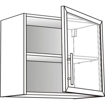 Skříňka horní  s prosklenými dvířky 45 cm