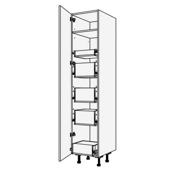 Vysoká skříň potravinová se zásuvkami blum 45 cm