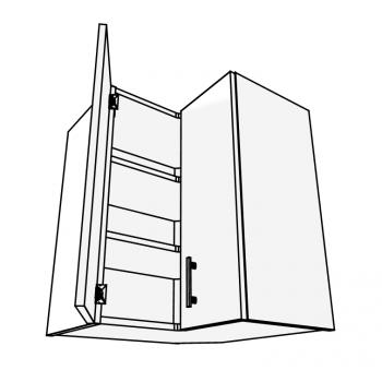 Skříňka horní rohová do L 90° 60 cm
