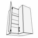 Skříňka horní rohová L 90° 60 cm