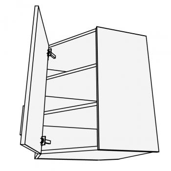Skříňka horní rohová šikmá 45° 60 cm