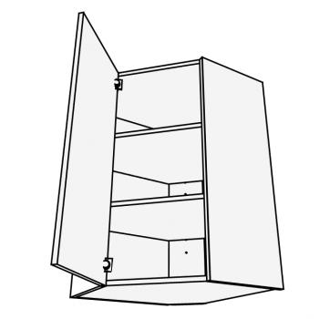 Skříňka horní rohová 45° 60 cm