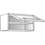 Skříňka horní  prosklená s výklopem 90 cm