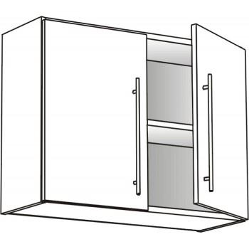 Skříňka horní s 2 dvířky policová 100 cm