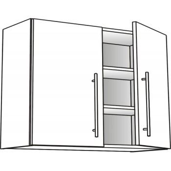 Skříňka horní s 2 dvířky policová 90 cm
