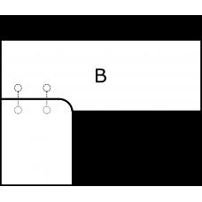 Pravoúhlá deska - varianta B - díl B