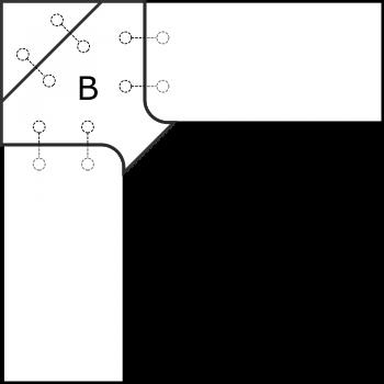 Rohová deska - díl B