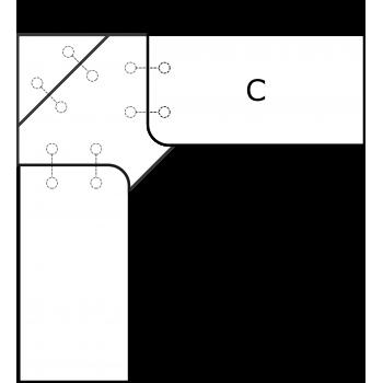 Rohová deska - díl C