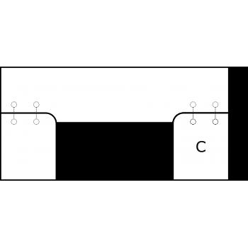 U deska - varianta B - díl C