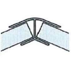 Roh pro soklový profil 135° 100 mm hliník
