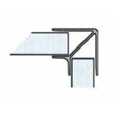 Roh pro soklový profil 90° 100 mm hliník