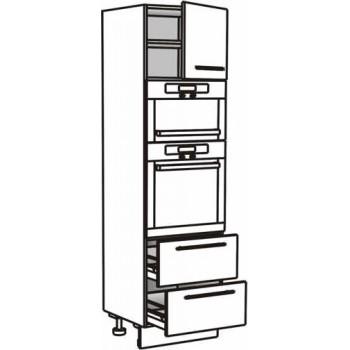 Vysoká skříň pro troubu a mikrovlnou troubu 60 cm