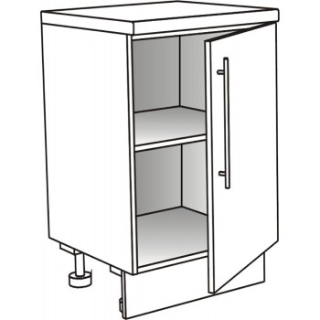 Skříňka spodní s dvířky policová ostrůvková 45 cm