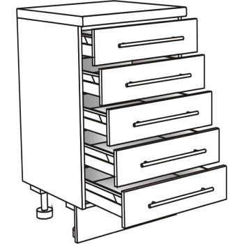Skříňka spodní s 5 zásuvkami 90 cm