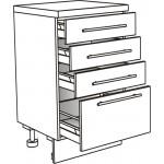 Skříňka spodní se 4 zásuvkami ostrůvková 30 cm