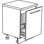Skříňka spodní pro dřez s výsuvným košem ostrůvková 60 cm