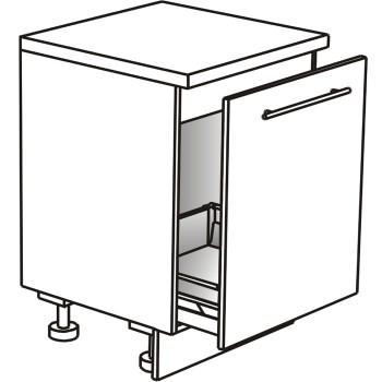 Skříňka spodní pro dřez s výsuvem na koš 80 cm