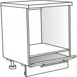 Skříňka spodní pro troubu ostrůvková 60 cm