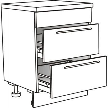 Skříňka spodní pro varnou desku se 2 zásuvkami 80 cm