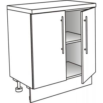 Skříňka spodní s 2 dvířky policová 90 cm