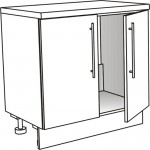 Skříňka spodní pro dřez ostrůvková 80 cm